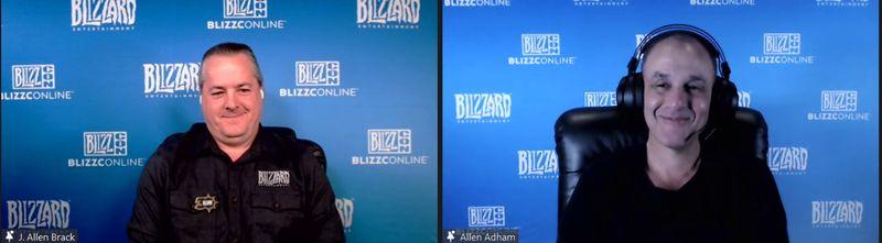 暴雪娛樂總裁J. Allen Brack  (左)、暴雪娛樂資深副總裁暨共同創辦人Allen Adham (右)