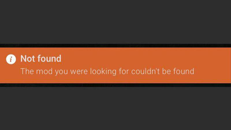 Mod Not Found
